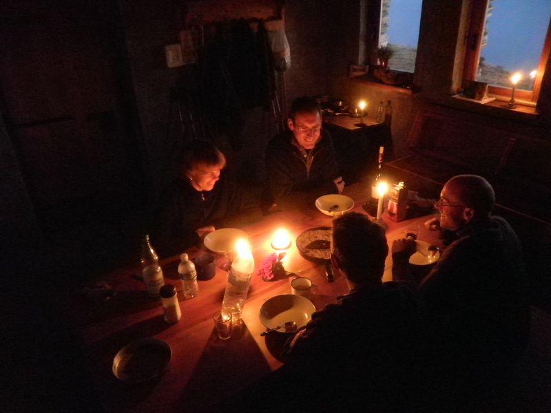 gemütliches Abendessen in Mottac